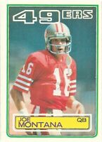 1983 TOPPS FOOTBALL JOE MONTANA #169 SAN FRANCISCO 49ERS HOFer
