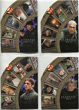 Stargate SG1 Season 4 Complete Heroes In Action Chase Card Set H1-H4