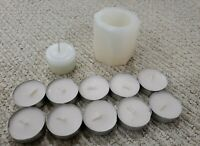Solid Marble Candle Holder, From Riviera Maya, Mexico, With 10 Extra Candles!