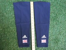 New In Bag Adidas Team GB Cycling Blue Thermal Fleece Lined Knee Warmers XXS