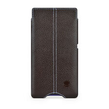 Beyzacases Thinnest Genuine Leather Case Hostler Sleeve For Sony Xperia Z Brown