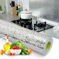 Waterproof Self Adhesive Oil-proof Aluminum Foil Home Kitchen Decor Wall Sticker