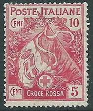1915-16 REGNO PRO CROCE ROSSA 10+5 CENT MNH ** - CZ18-2