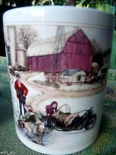 Harley Davidson~Christmas Vacation~1993~Winter Country HD Horse~Cup Mug~NEW