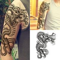Schwarz Drachen Wasserfest Einmal Tattoo Körper Tattoos Aufkleber Hauttattoo