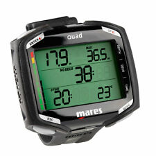 MARES Quad Black Computer Underwater + Screen Protection Free Gift Dive Wrist