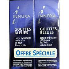 2X-INNOXA-FRENCH-GOUTTES-BLEUES-BLUE-EYE-DROPS-10ml+10ml-NEW-IN-BOX