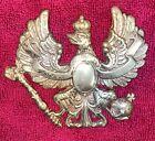 "Original Vintage German Prussia Imperial Kaiser Crown Emblem Brass Heavy 5"""