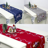180*40cm Embroidery Table Runner Christmas Table Cloth Cover Home Decor Hot fjsa
