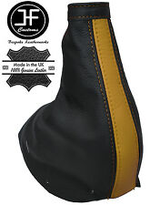 BLACK & YELLOW REAL LEATHER HANDBRAKE GAITER FITS FIAT COUPE FA/175 1993-2000