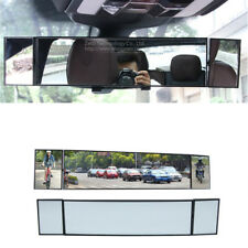 Car Rear View Mirror 360° Wide Angle Panoramic Anti-dazzling Curved Large Vision