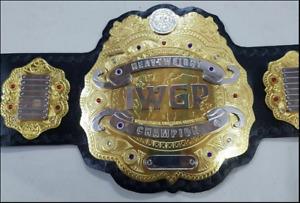 ST IWGP Heavyweight Champion Title Belt Replica Adult 4mm Brass Dual Plated