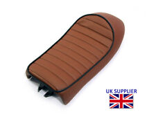 Brown Motorcycle Seat Saddle for Scrambler Brat Bike Cafe Racer Streetfighter