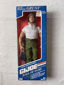 "BASIC TRAINING GRUNT GI Joe Hall of Fame 12"" Action Figure Hasbro 1992 NEW"