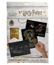 Harry Potter Metallic SCRATCH ART SET Magic Reveal Sheets WIZARDING WORLD New
