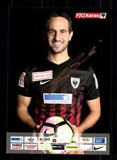 Sandr Burki autographe carte FC Aarau 2016-17 original signée + a 138811