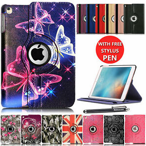 Leather 360 Rotating Smart Case Cover For Apple iPad Air 1st Gen - iPad Pro 12.9