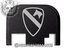 For Glock 17 19 21 22 23 27 30 34 36 41 Rear Plate Blk G1-4 1st Cavalry Army