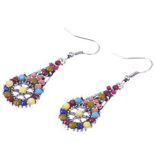 Alloy Earrings For Lady Dw-Eh-E072 Bohemian Handmake Coloured Simulated Pearl