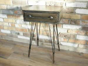 Industrial Metal Bedside Cabinet | Chest of Drawer | End Lamp Table