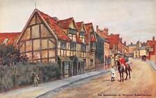 Stratford-upon-Avon, William Shakespeare Birthplace, street scene, illustration