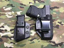 Black Police Raptor IWB Kydex for Glock 26/27 & Mag K-Carrier
