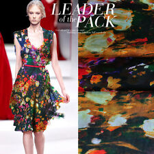 DESIGNER 100% SILK CHIFFON WITH FLORAL PRINT BY THE METER S272