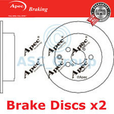 2x Apec Braking 280mm Solid OE Quality Replacement Brake Discs (Pair) DSK2262