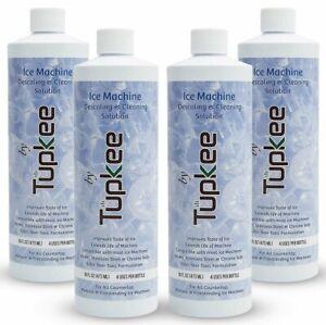 Tupkee Ice Machine Cleaner Nickel Safe - 16oz Ice Maker Cleaner - 4 Pack