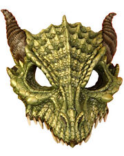 Adult's Mythical Green Dragon Mask Costume Accessory