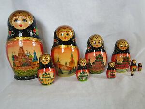 nesting dolls, Russian doll, Matryoshka doll, Hand painted, wooden doll, church