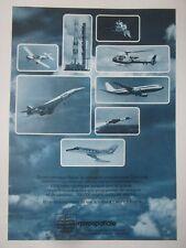 10/1976 PUB AEROSPATIALE CONCORDE AIRBUS MISSILE SATELLITE CORVETTE RALLYE AD