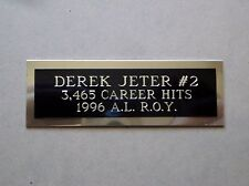 "Derek Jeter Nameplate For A Signed Baseball Ball Cube Or Card Plaque 1"" X 3"""