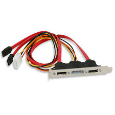 2-eSATA + 4 Pin Power Bracket Port to Female SATA Cable Useful