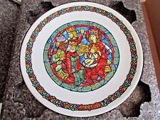 Nib Limoges D'Arceau Adoration Des Rois Plate Signed Numbered Stained Glass