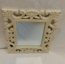 SALE  ❀ڿڰۣ❀ SHABBY CHIC Ivory Cream ROCOCO Inspired VANITY TABLE / WALL MIRROR ❀