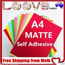 20x A4 Colour Matte Self Adhesive Sticker Paper Sheet Label Laser Print Office