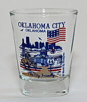 OKLAHOMA CITY OKLAHOMA GREAT AMERICAN CITIES COLLECTION SHOT GLASS SHOTGLASS