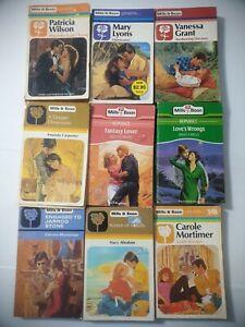 10 Vintage Mills & Boon Romance Novels Bulk Lot Collectors Year 1980s