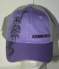 Official Kenworth Purple Truck Truckers Cap Hat New Tags OSFM Unisex Ladies