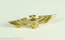 Pilot Badge Aviator Metal Pin Wings Fancy Dress Costume Accessory Top Gun Navy