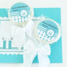 96 Something Blue Lollipops Personalized Lollipop Bridal Shower Wedding Favors