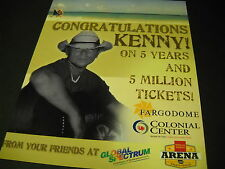 KENNY CHESNEY 5 Years - 5 Million Tickets 2007 PROMO POSTER AD mint condition