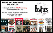 BEATLES 13 US ALBUMS 50TH ANNIVERSARY REPRO AUTOGRAPHS LOGO FRIDGE MAGNET