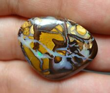 Lapidary: 27.6 Carat Natural, Polished Solid Boulder Opal From Koroit, QLD