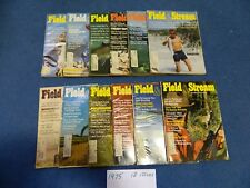 Lot of (12) 1975 FIELD & STREAM Magazines ~ Hunting - Fishing FREE SHIPPING