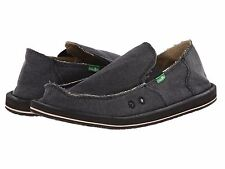 Men's Shoes Sanuk VAGABOND Slip On Canvas Sidewalk Surfers SMF1001 CHARCOAL