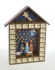 Heaven Sends Traditional Nativity Wooden Christmas Advent Calendar