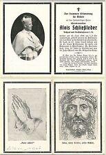 Sterbebild Alois Schließleder, Pfarrer St. Michael in Steyr, †1941