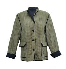 ** Aquascutum ** Quilted Jacket / Coat ** Vintage ** Removeable Arms ** M **